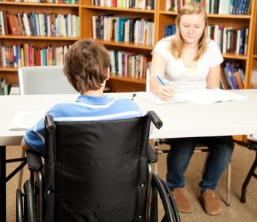 Alumnos con discapacidad infantil