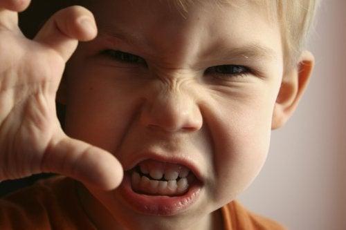 La ira es una de las emociones básicas de los niños.