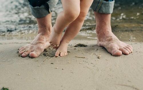 El pie de atleta en niños.