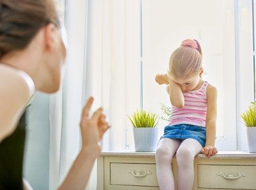 El sentimiento de culpabilidad en los niños.