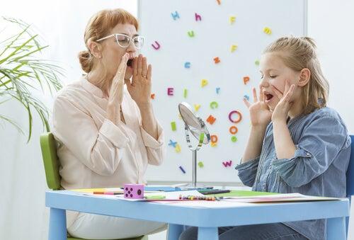 Tratamiento de la disfasia en niños.