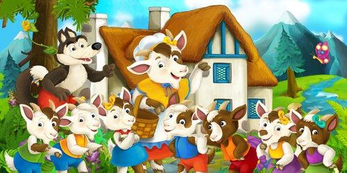 El lobo y los siete cabritillos es uno de los cuentos infantiles más famosos.