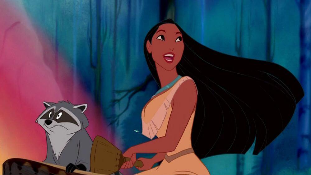 Pocahontas y su amigo el mapache