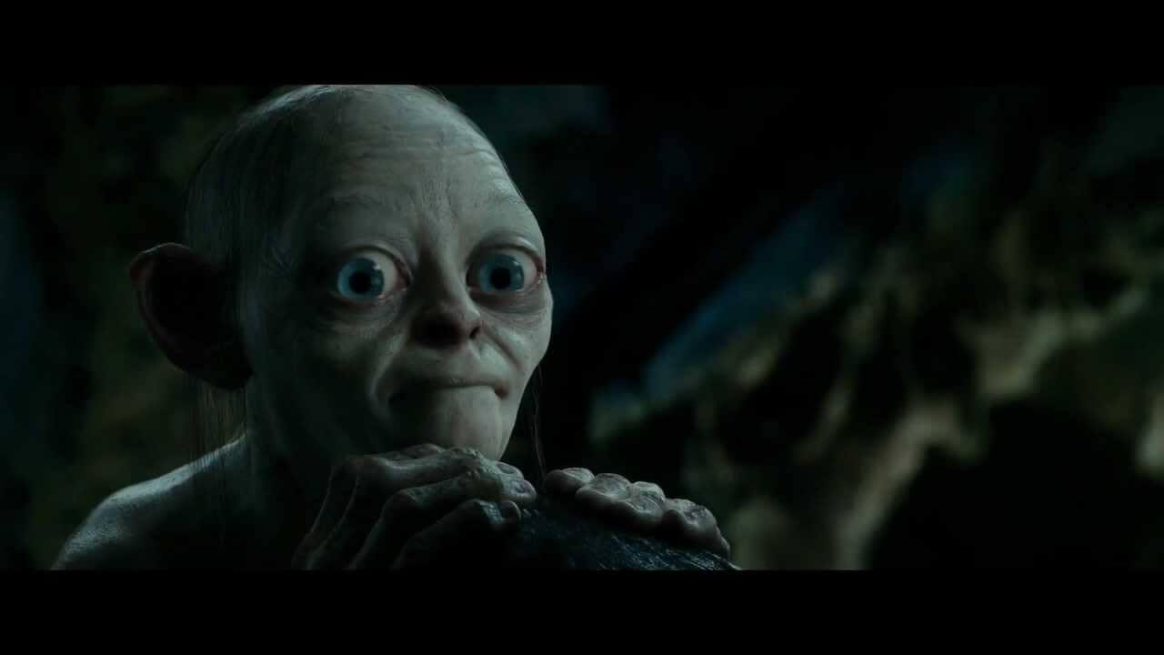 Gollum jugando a las adivinanzas en El hobbit