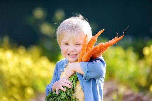 Las dietas veganas en los niños.