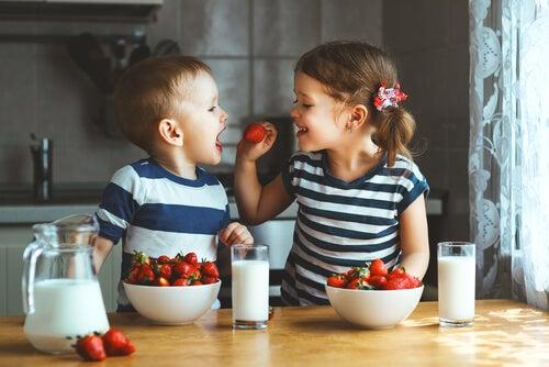 Tartas de frutas para niños