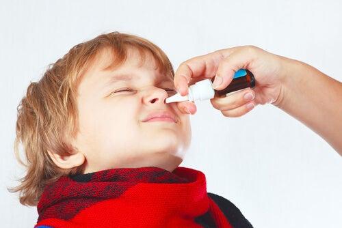 La congestión nasal en niños