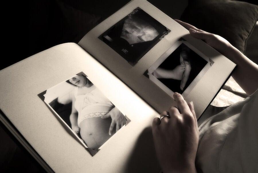 Álbum de fotos regalo para embarazadas