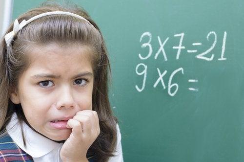 La ansiedad matemática es un fenómeno muy común en los niños.