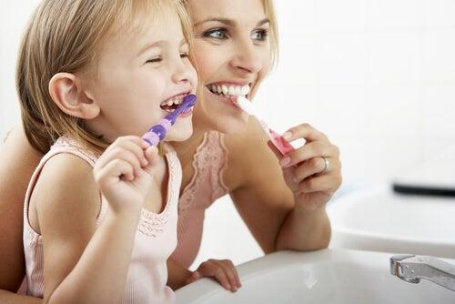 La higiene bucal en la escuela.