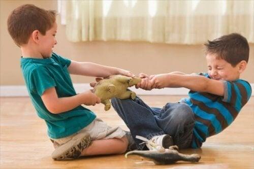 Los hermanos que se llevan mal suelen competir por el afecto de sus padres.