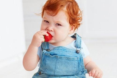 La alimentación complementaria también genera un exceso de saliva en los bebés.