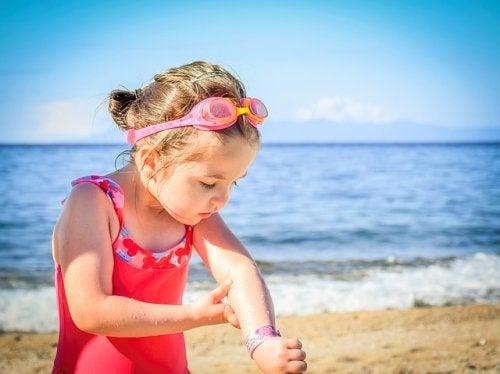 Riesgos de la insolación en niños