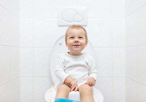 El primer paso para que el niño deje el pañal consiste en poner en el baño el adaptador para el inodoro o comprar el orinal o bacinilla.