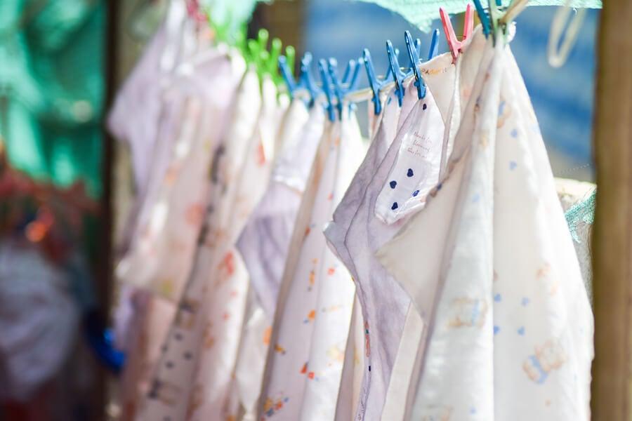 Los pañales ecológicos se pueden lavar y reutilizar.