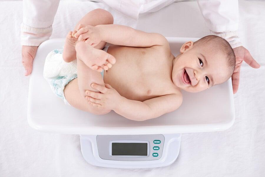 El aumento de peso en los bebés durante su primer año