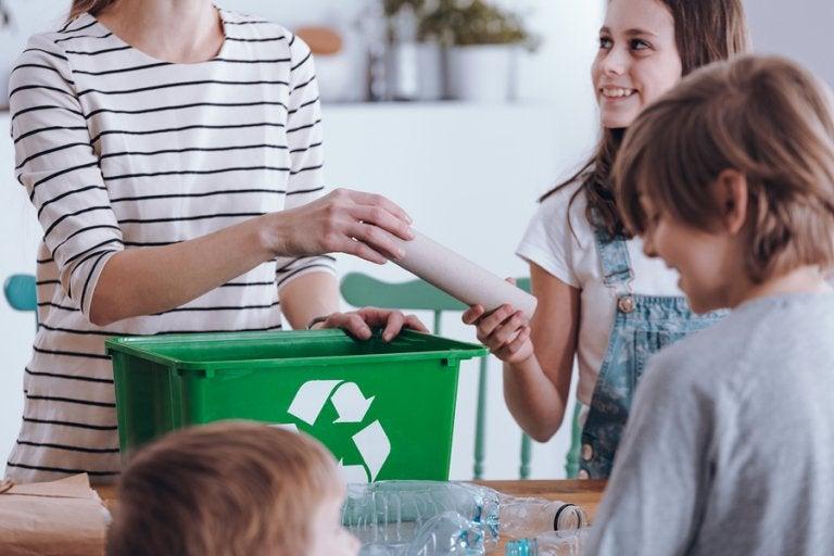 Aprendiendo a reciclar en familia
