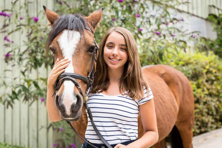 La terapia con animales en la adolescencia