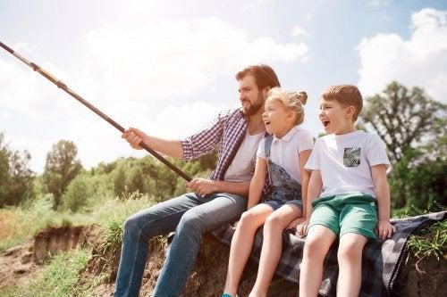 ¡De pesca con los niños!