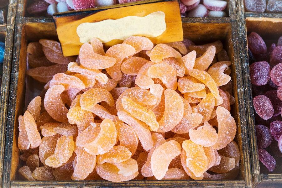 Golosinas hechas con fruta