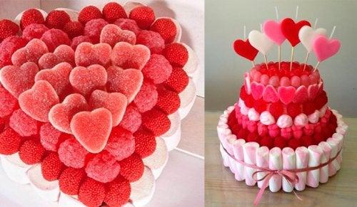 Las tartas de chuches son la nueva tendencia para los cumpleaños infantiles.