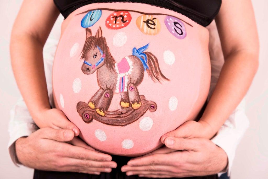 Barriga pintada embarazo bellypainting