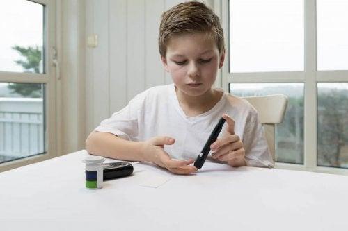 Señales de diabetes infantil.