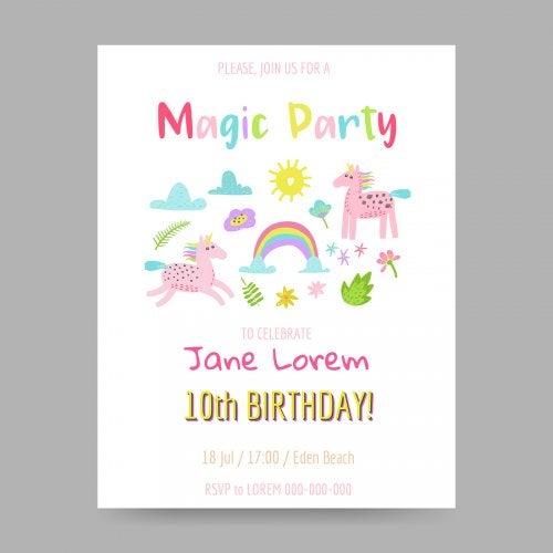 5 ideas para hacer la invitación de cumpleaños de tu hijo