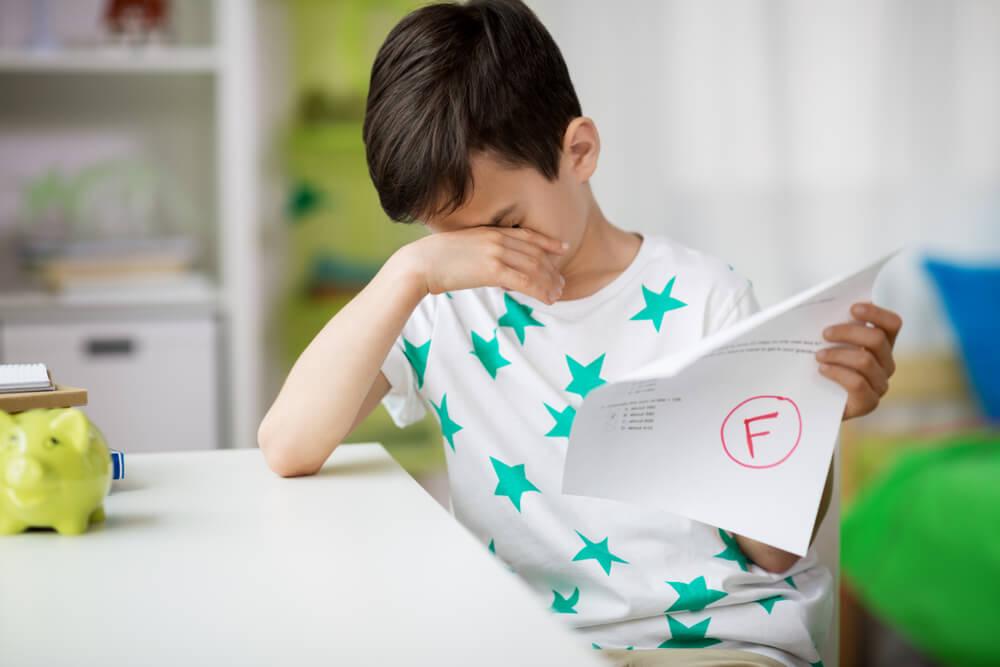 El miedo a suspender en los niños