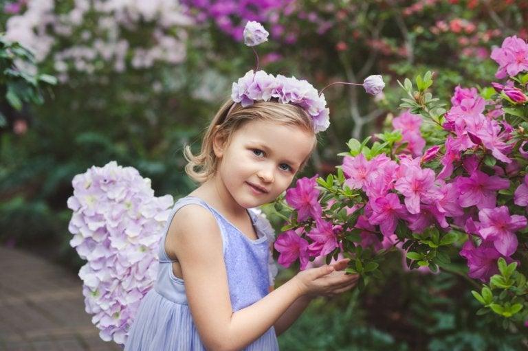 Diademas con flores para niñas