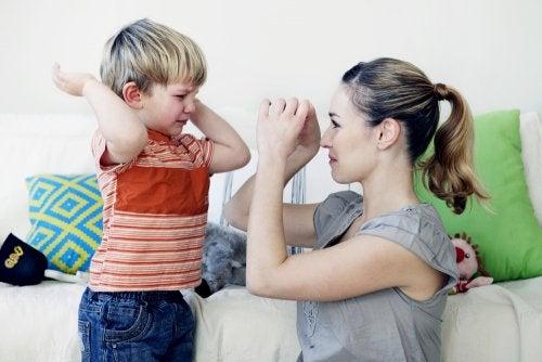 Conductas agresivas en niños.