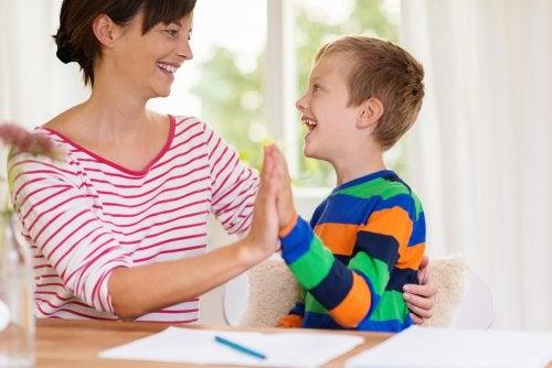 El método de la escalera para motivar a los niños.
