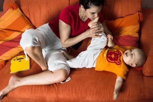 Apego seguro entre madre e hijo