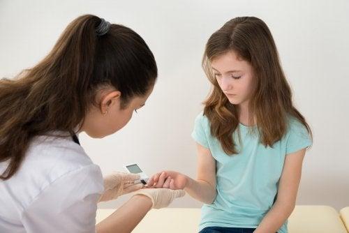 Diabetes tipo 1 en niños.