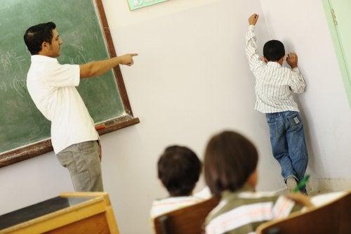 Castigos en el aula.