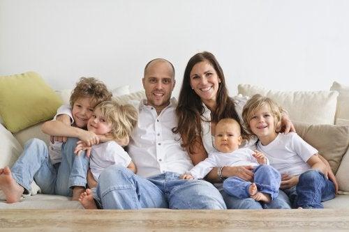Los beneficios de las familias numerosas.