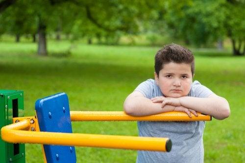 Consecuencias psicológicas del sobrepeso en los niños.