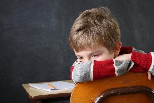 Niños con atiquifobia con fracaso escolar.