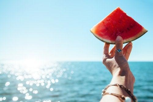 Comer saludable en la playa