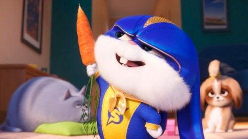 Conejo de la película infantil Mascotas 2.