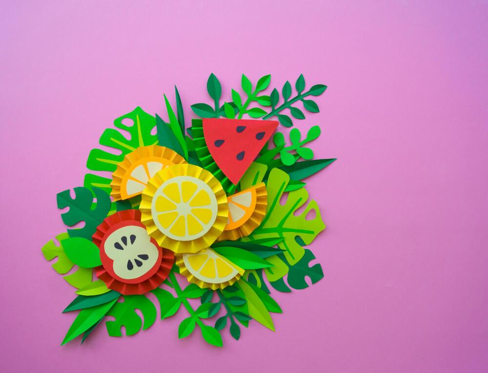 Manualidades de frutas para concienciar a los niños