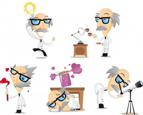 Científico realizando un experimento en el laboratorio.
