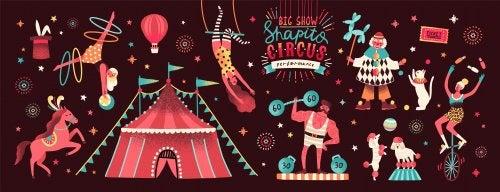 Diferentes profesiones que podemos encontrar en un circo.