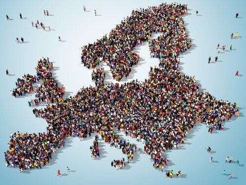 Europa formado por personas.