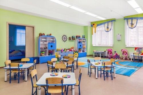 Aula de infantil organizada mediante el método Davopsi.