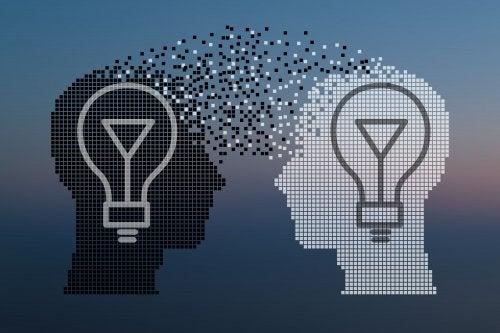 Bombillas a modo de cerebros para representar la enseñanza por proyectos.