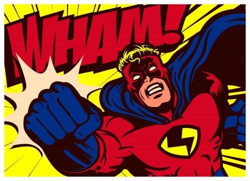 Superhéroe de cómic.