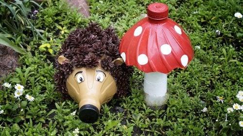 Animales hechos con botellas de plástico.