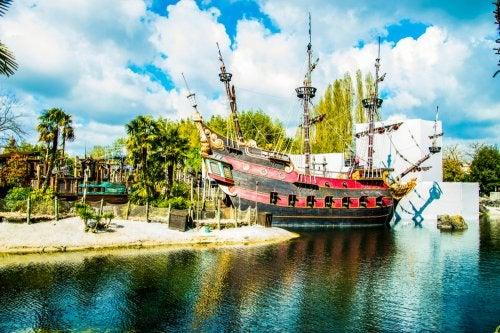 Barco pirata de Disneyland París.