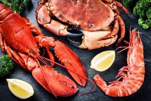 El marisco es uno de los alimentos sanos en Navidad.
